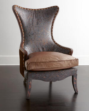 Old Hickory Tannery Martha Leather Wing Chair