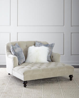 Old Hickory Tannery Valentina Tufted Chaise