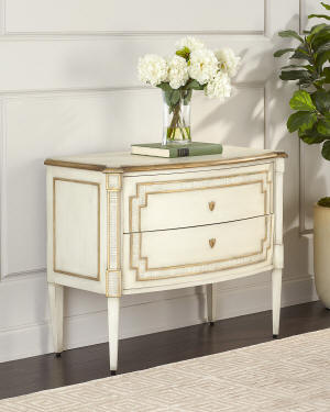 John-Richard Collection Corsini Nightstand with Push-Open Drawers
